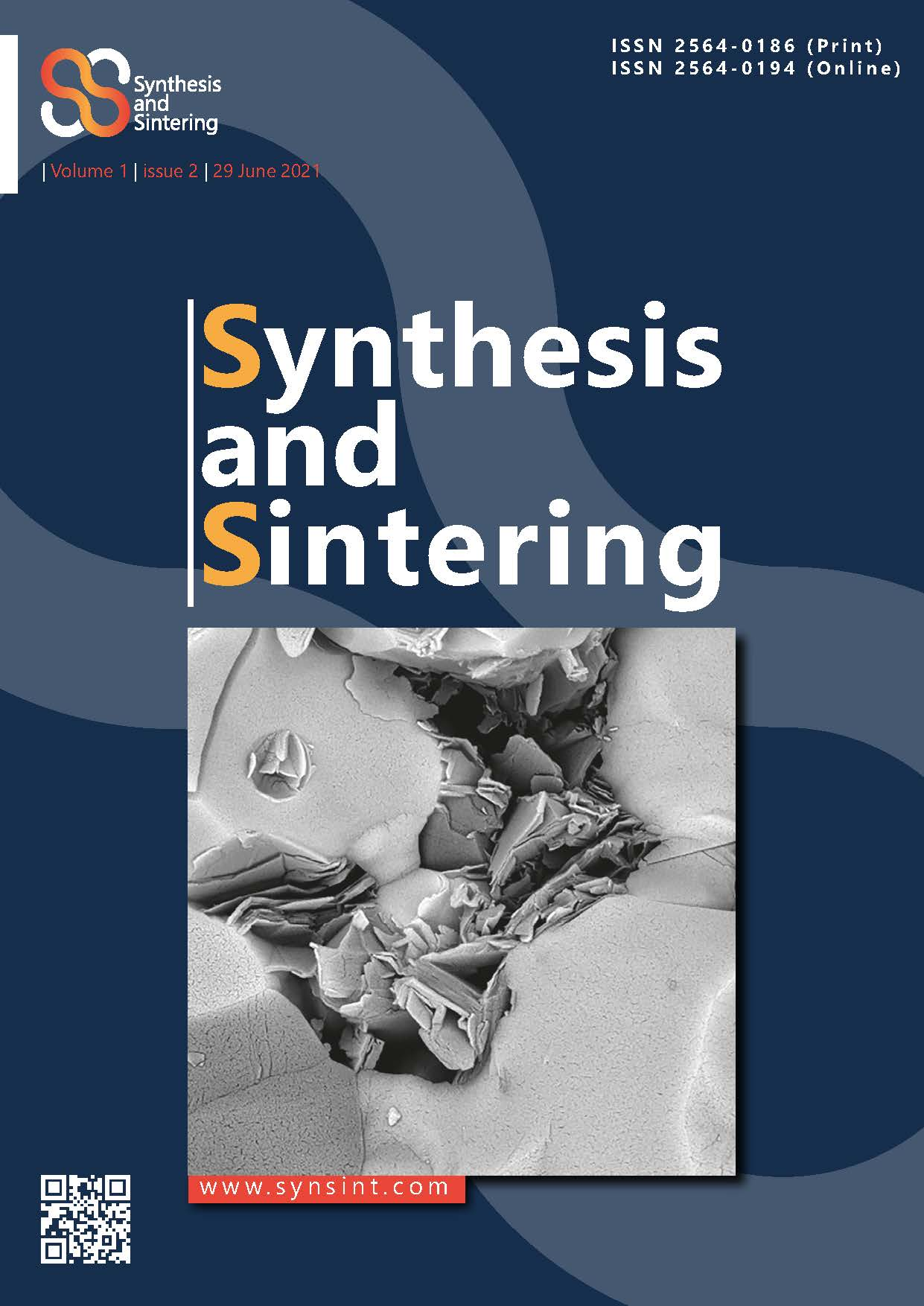 Synthesis and Sintering, Vol. 1, No. 2, 2021