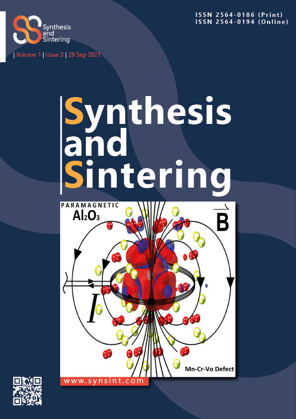 Synthesis and Sintering, Vol. 1, No. 3, 2021